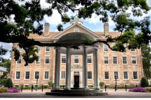 photo of the old well at UNC in the summer