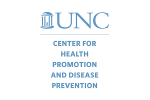 Center for Health Promotion and Disease Prevention logo in Carolina blue