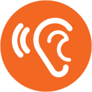 Icon of a listening ear
